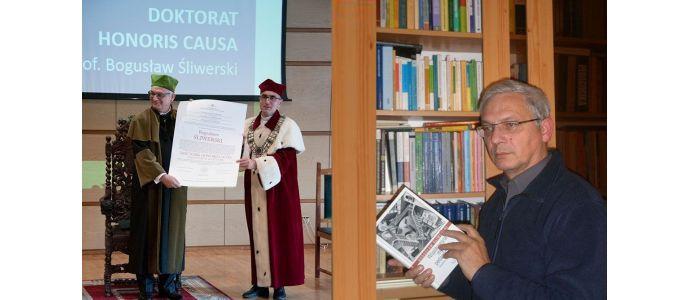 Doktor Honoris Causa dla prof. dr. hab. dhc multi Bogusława Śliwerskiego